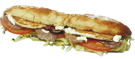 Bocadillos en pan de baguette