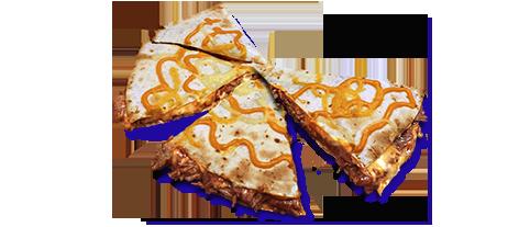 Asado cajún  quesadilla