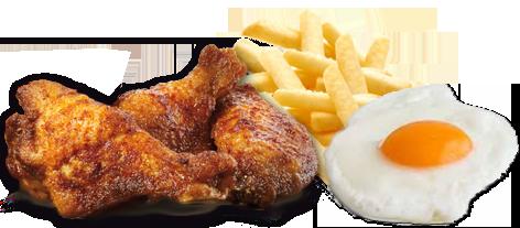 Platos combinados de pollo