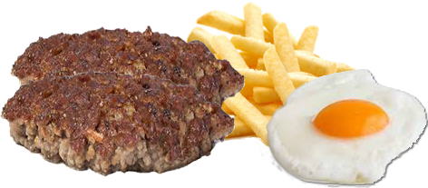 Platos combinados de hamburguesa