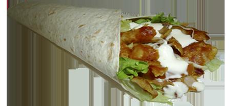kebab enrrollado de pollo