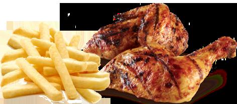 meico pollo asado con patatas fritas